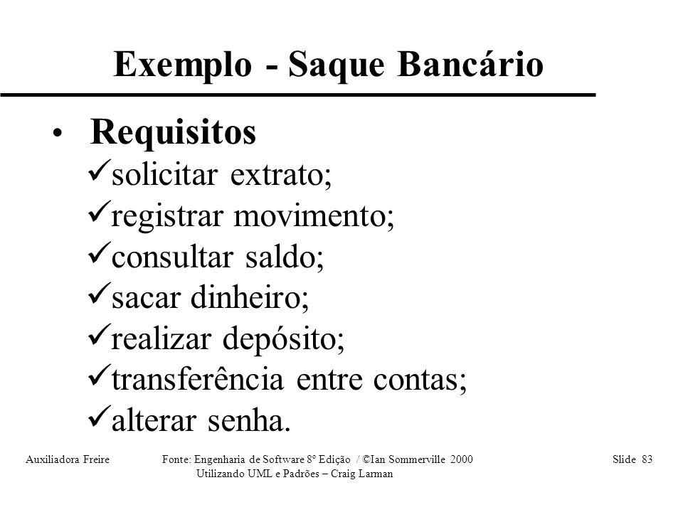 Exemplo - Saque Bancário