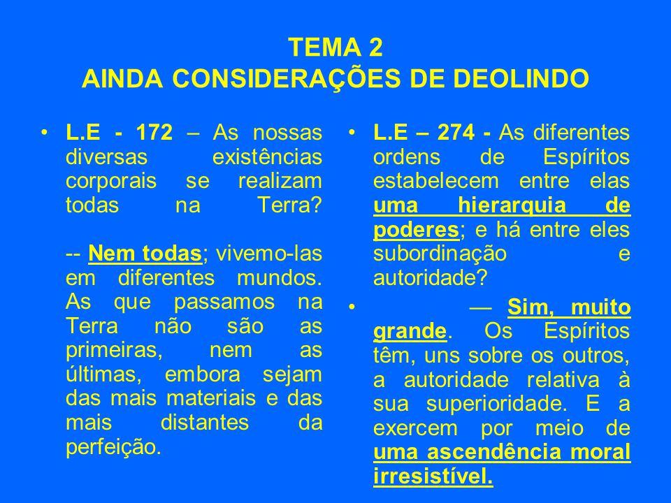 TEMA 2 AINDA CONSIDERAÇÕES DE DEOLINDO