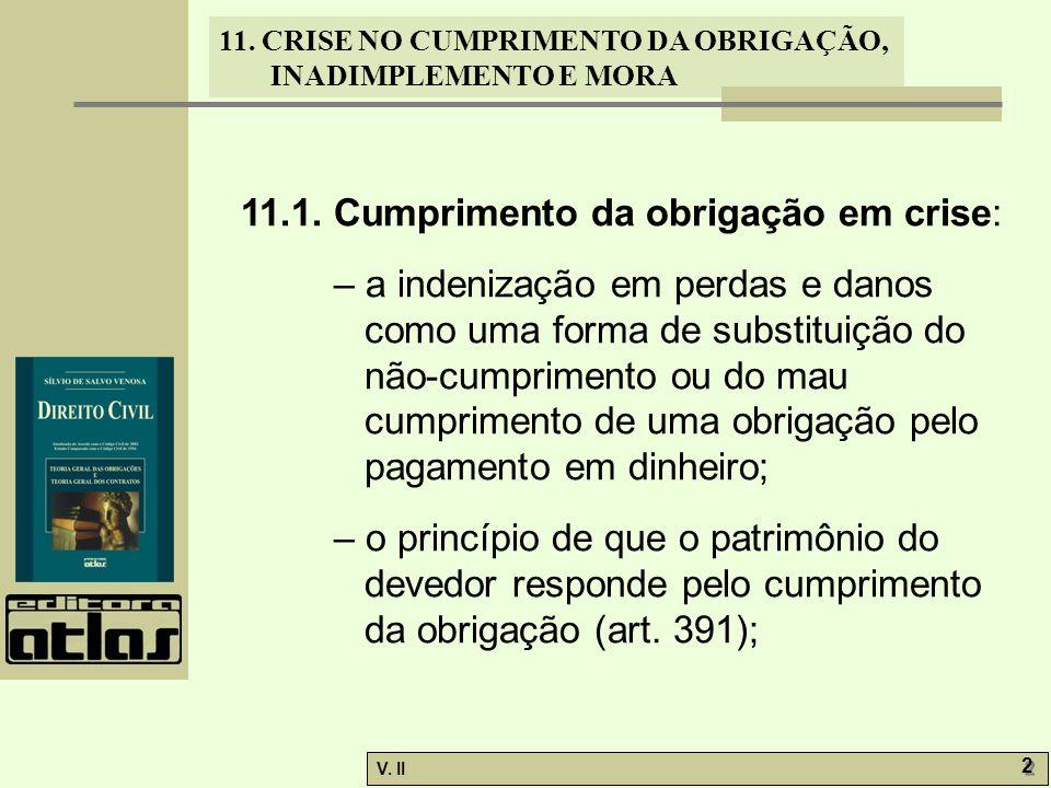 11.1. Cumprimento da obrigação em crise: