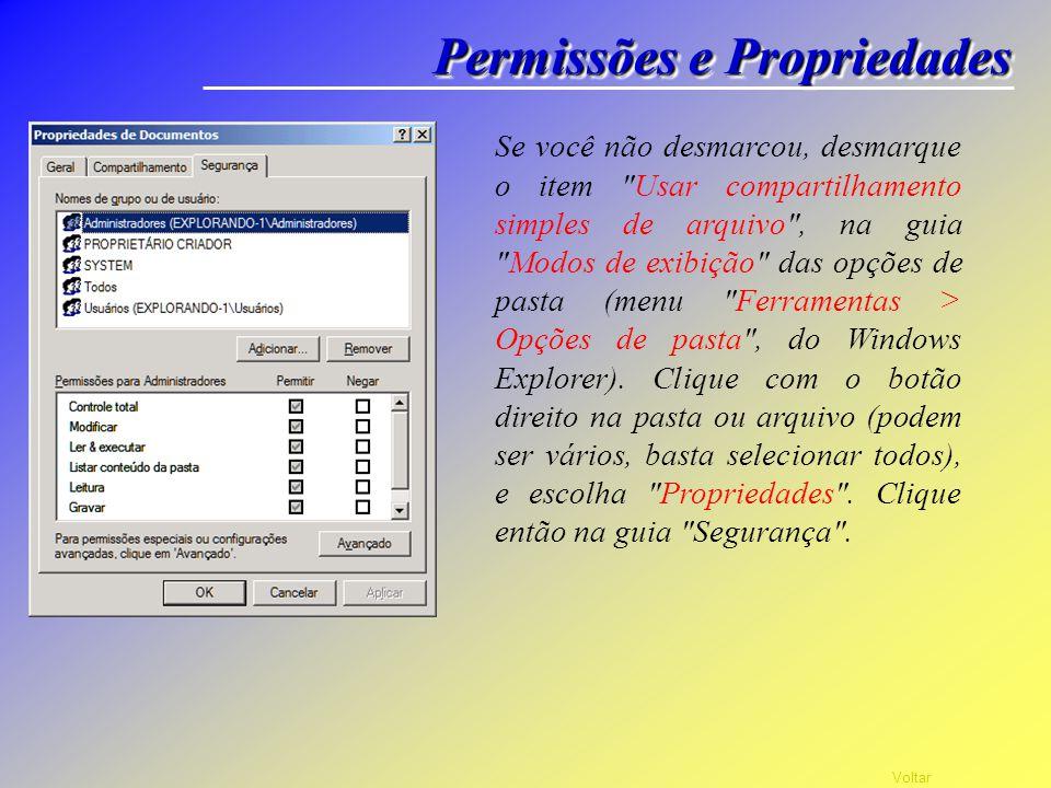 Permissões e Propriedades