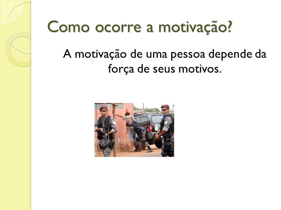 Como ocorre a motivação