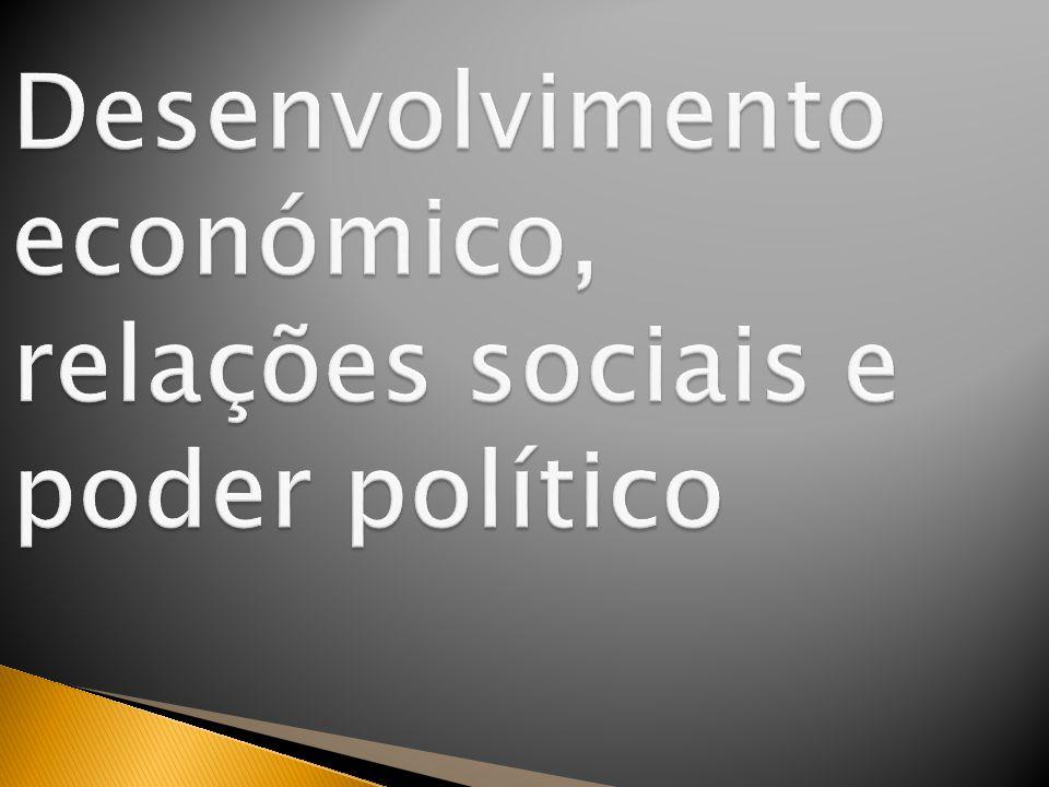 Desenvolvimento económico, relações sociais e poder político