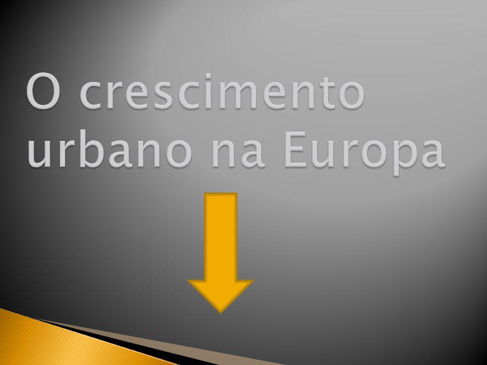 O crescimento urbano na Europa
