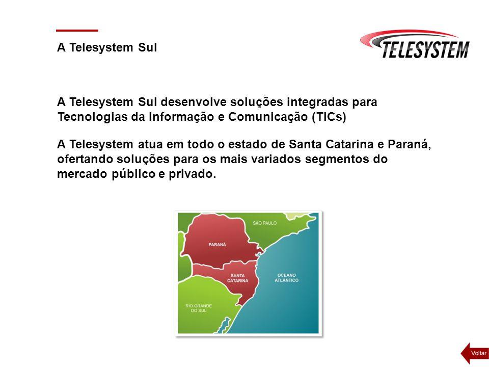 A Telesystem Sul A Telesystem Sul desenvolve soluções integradas para Tecnologias da Informação e Comunicação (TICs)