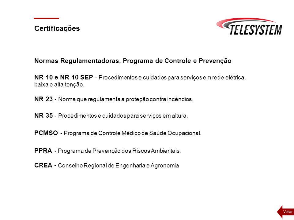 Certificações Normas Regulamentadoras, Programa de Controle e Prevenção.