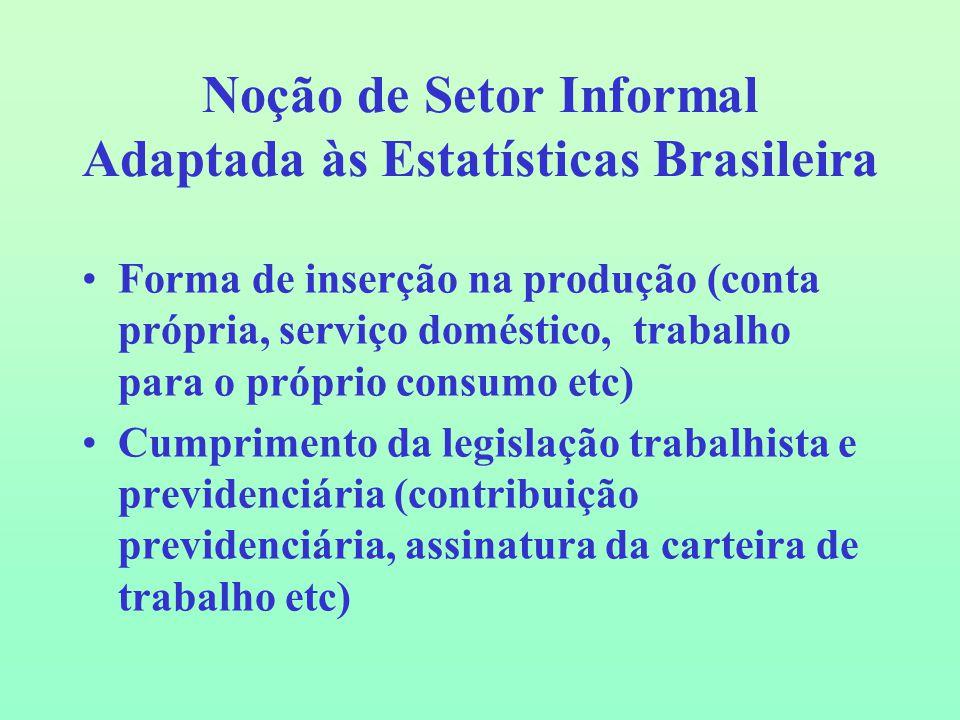 Noção de Setor Informal Adaptada às Estatísticas Brasileira