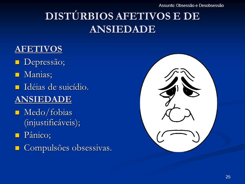 DISTÚRBIOS AFETIVOS E DE ANSIEDADE