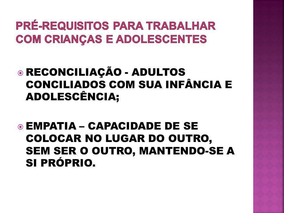 PRÉ-REQUISITOS PARA TRABALHAR COM CRIANÇAS E ADOLESCENTES