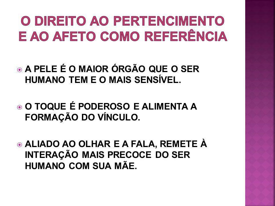 O DIREITO AO PERTENCIMENTO E AO AFETO COMO REFERÊNCIA