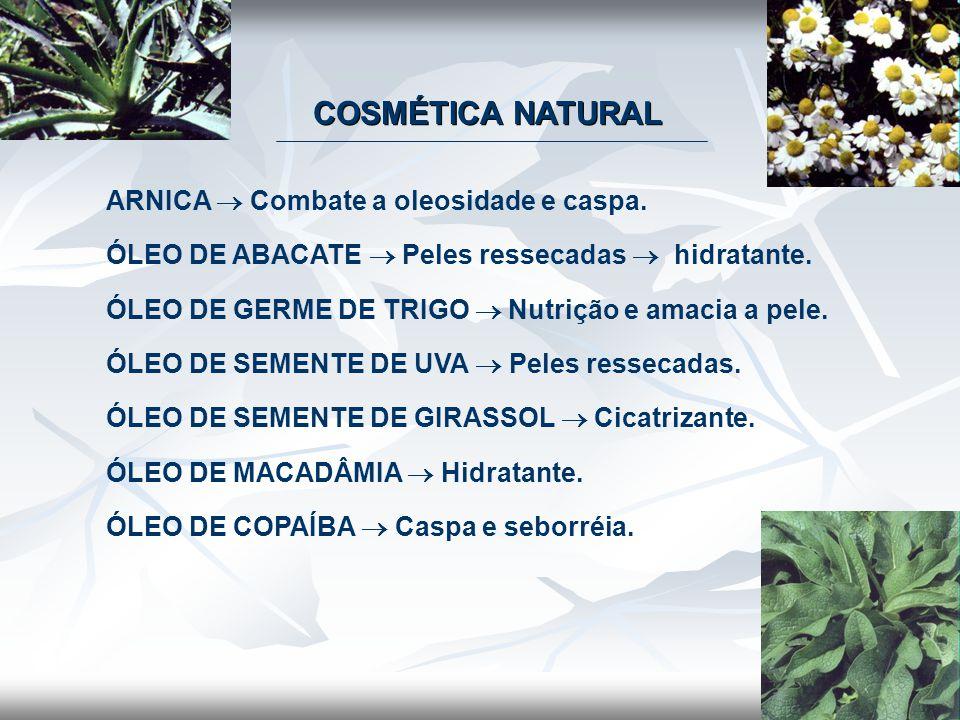 COSMÉTICA NATURAL ARNICA  Combate a oleosidade e caspa.