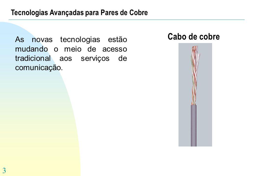 Cabo de cobre Tecnologias Avançadas para Pares de Cobre