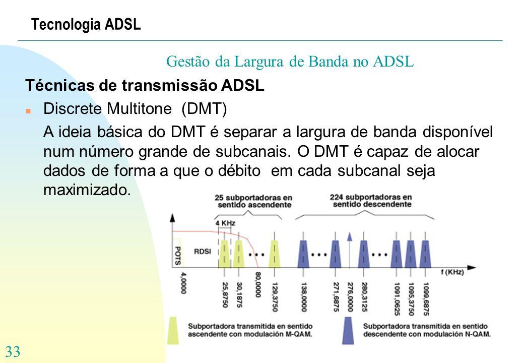 Gestão da Largura de Banda no ADSL