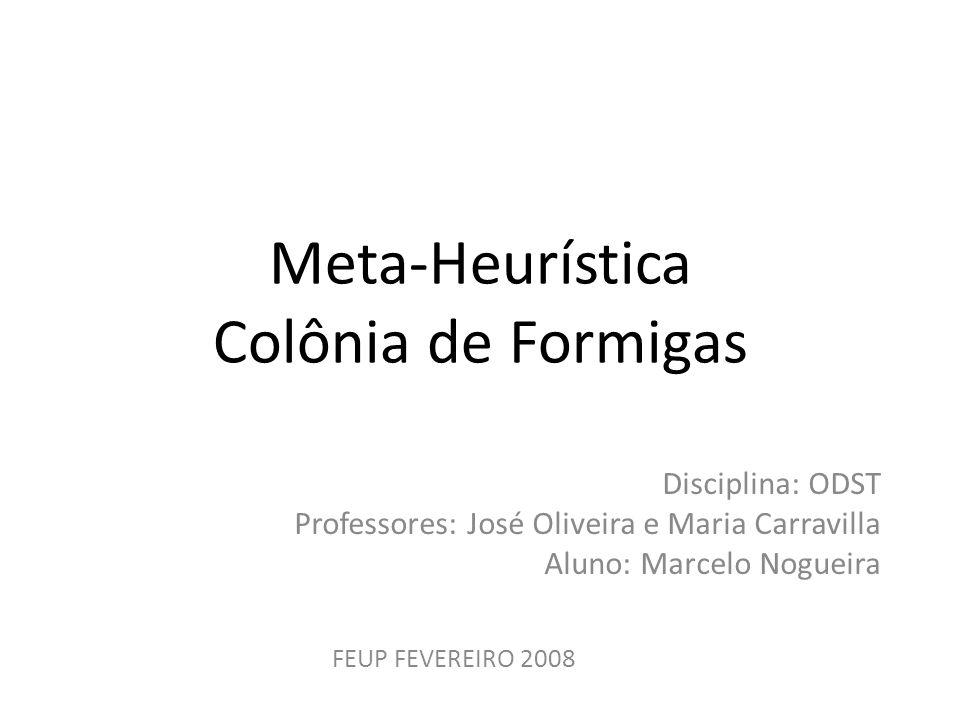 Meta-Heurística Colônia de Formigas