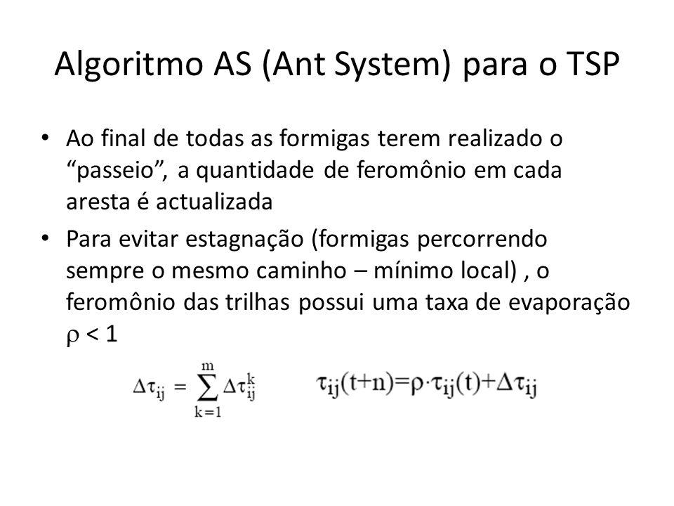 Algoritmo AS (Ant System) para o TSP