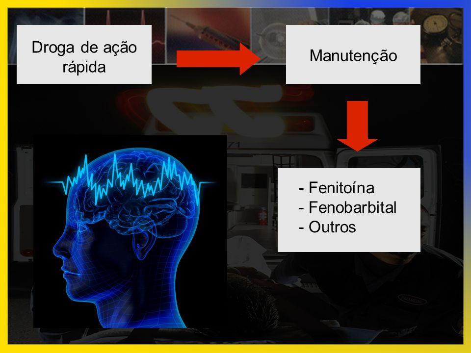 Droga de ação rápida Manutenção - Fenitoína - Fenobarbital - Outros