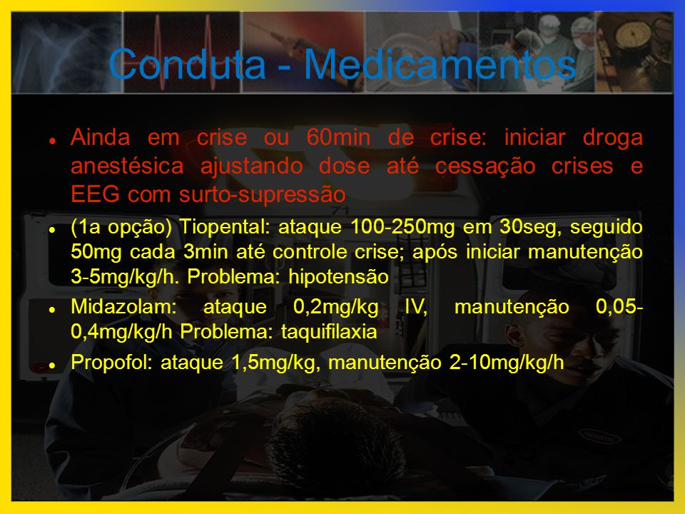 Conduta - Medicamentos