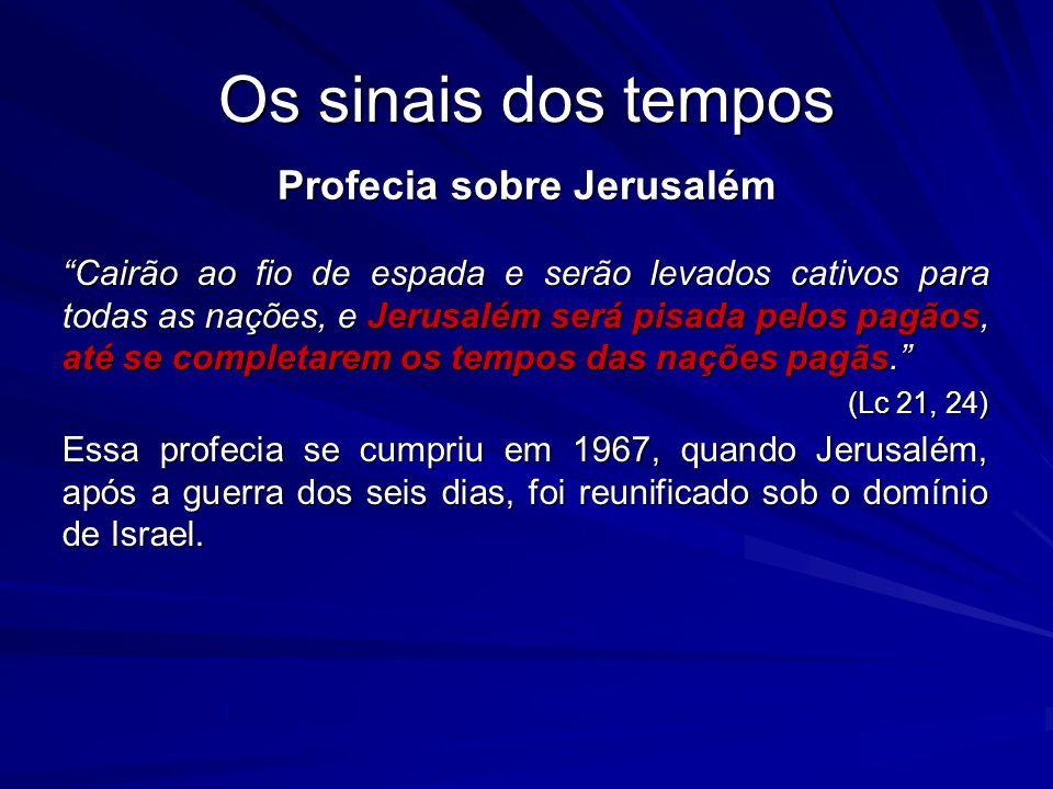 Profecia sobre Jerusalém