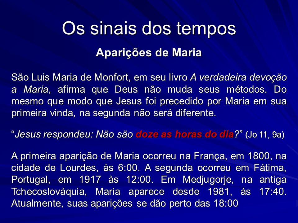 Os sinais dos tempos Aparições de Maria