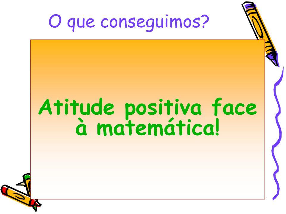 Atitude positiva face à matemática!