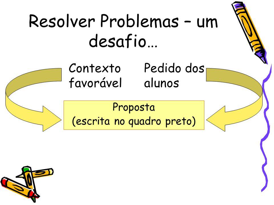 Resolver Problemas – um desafio…