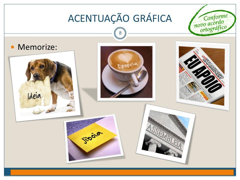 Acentuação gráfica Memorize: Prof. Jorge Henrique - 2009