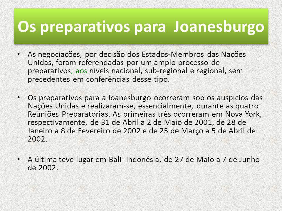 Os preparativos para Joanesburgo