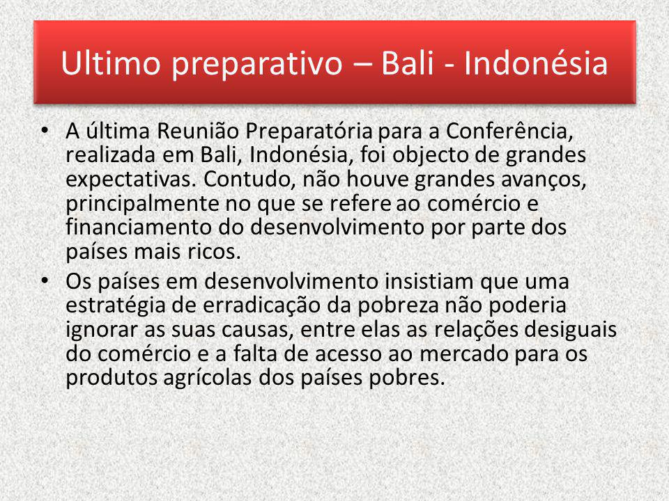 Ultimo preparativo – Bali - Indonésia