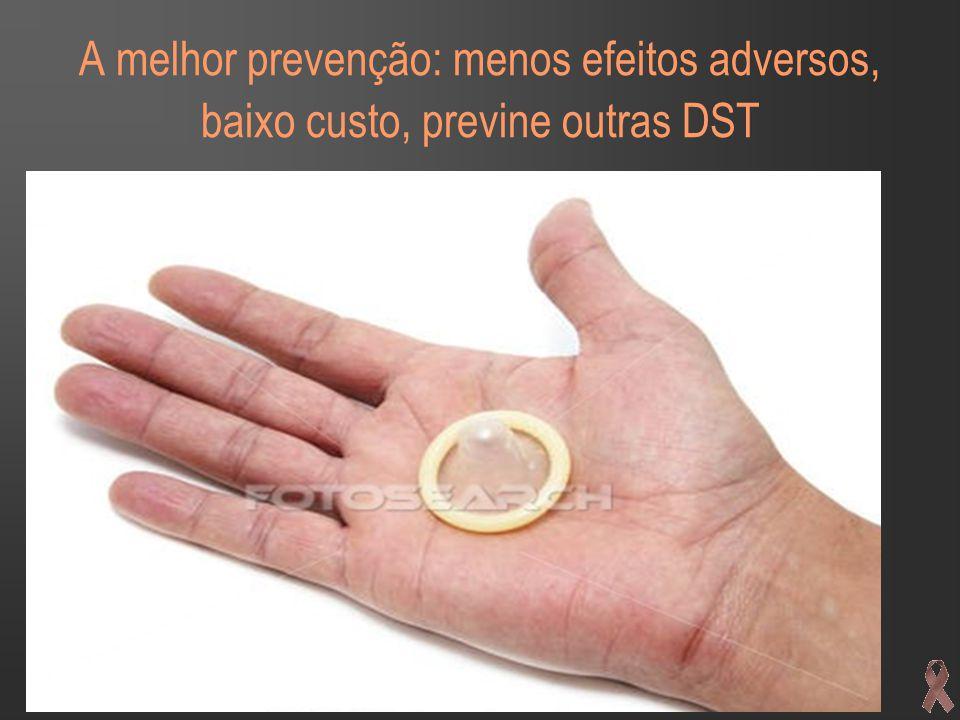A melhor prevenção: menos efeitos adversos, baixo custo, previne outras DST