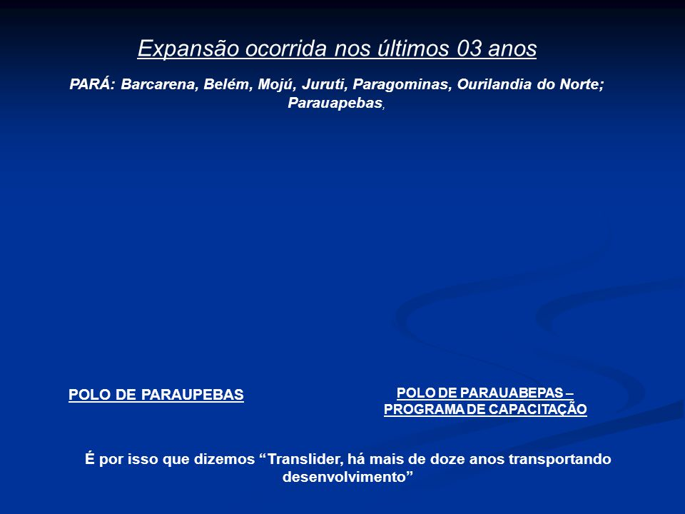 POLO DE PARAUABEPAS – PROGRAMA DE CAPACITAÇÃO