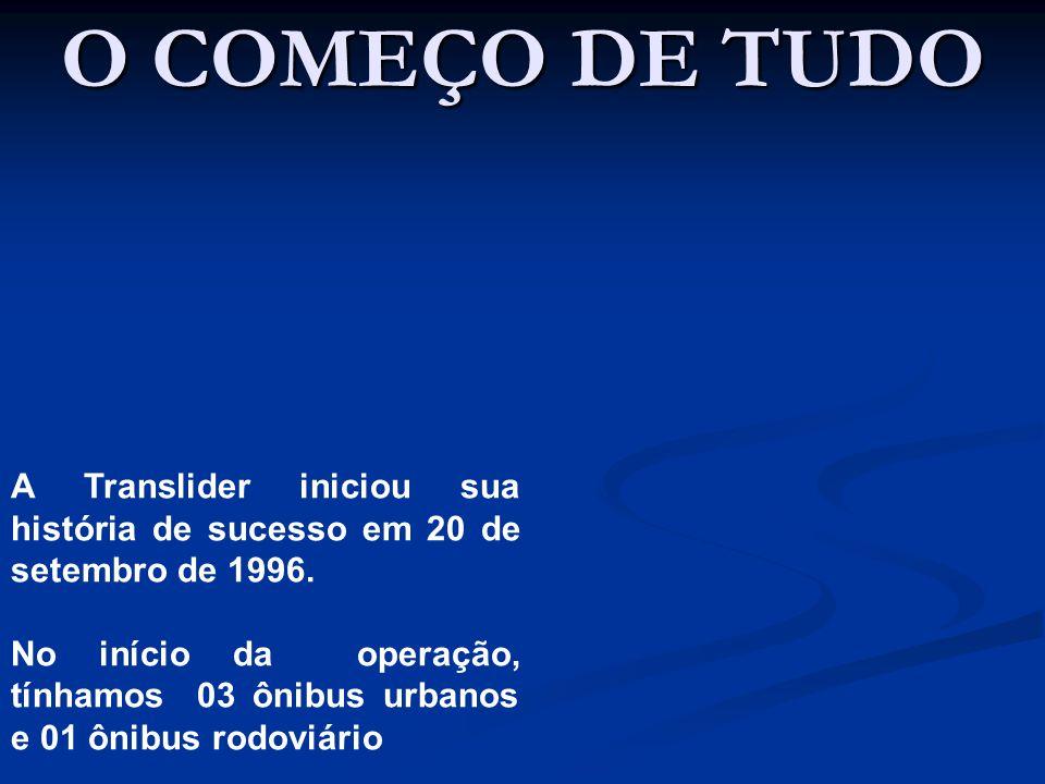 O COMEÇO DE TUDO A Translider iniciou sua história de sucesso em 20 de setembro de 1996.