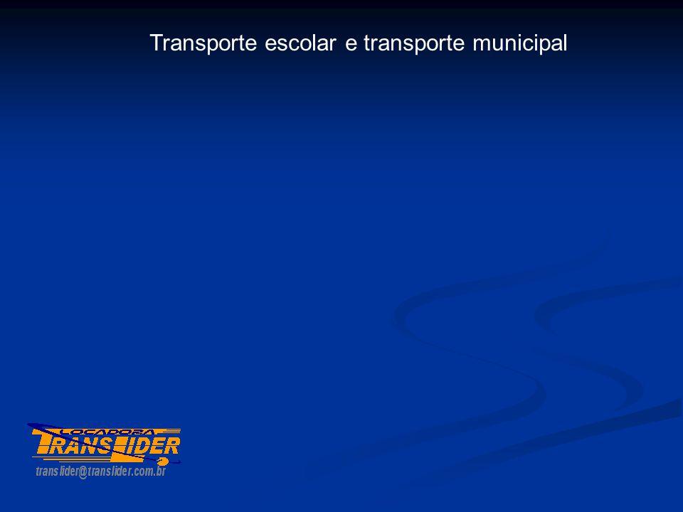 Transporte escolar e transporte municipal
