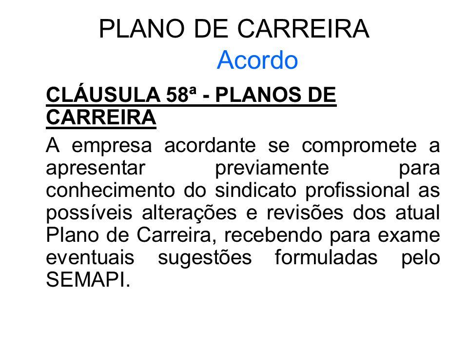 PLANO DE CARREIRA Acordo