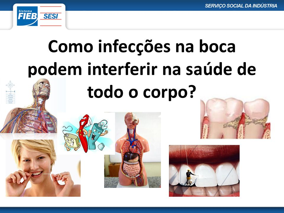Como infecções na boca podem interferir na saúde de todo o corpo
