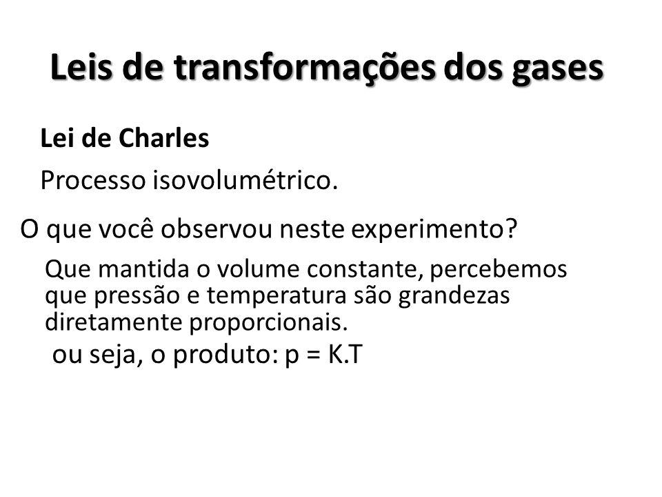 Leis de transformações dos gases