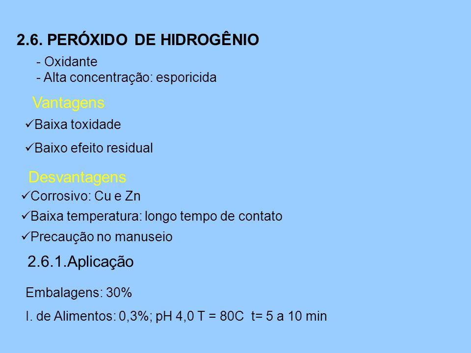 2.6. PERÓXIDO DE HIDROGÊNIO