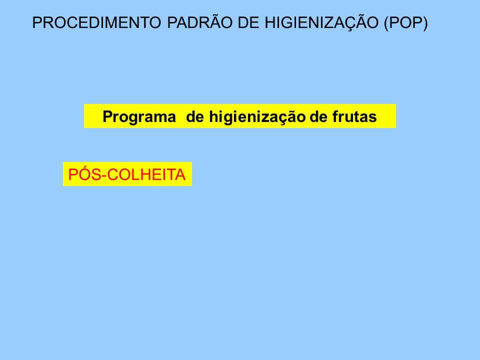 Programa de higienização de frutas