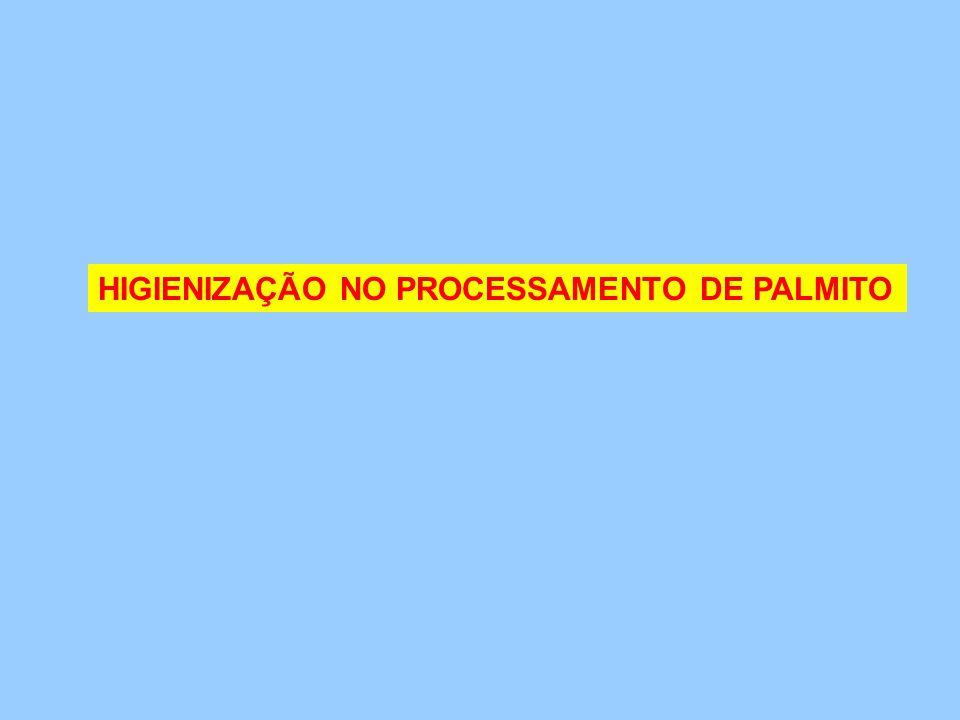 HIGIENIZAÇÃO NO PROCESSAMENTO DE PALMITO