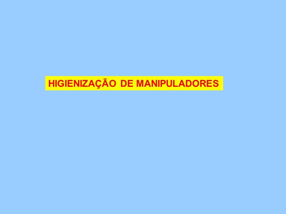 HIGIENIZAÇÃO DE MANIPULADORES