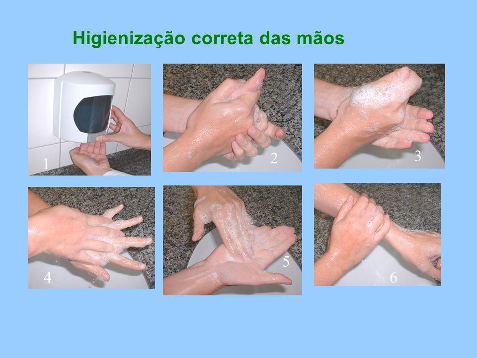 Higienização correta das mãos