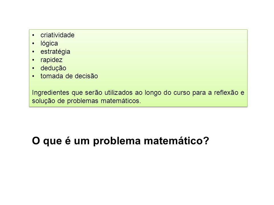O que é um problema matemático