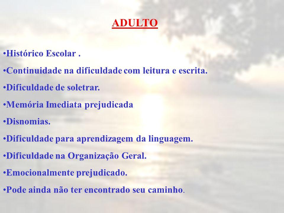 ADULTO Histórico Escolar .