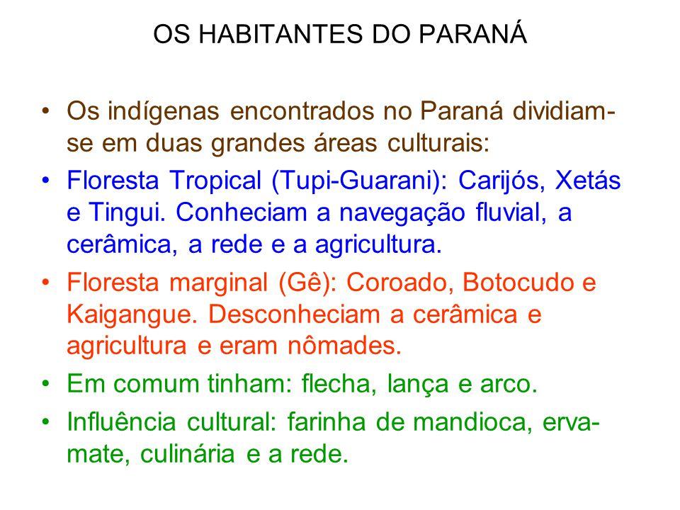 OS HABITANTES DO PARANÁ