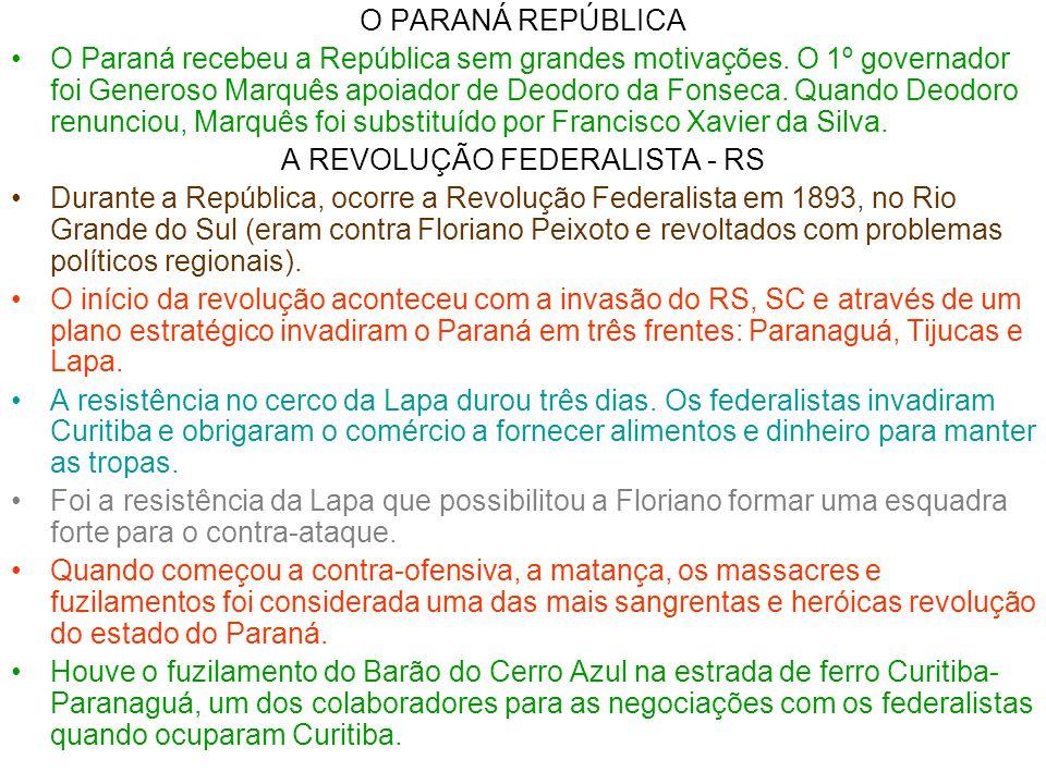 A REVOLUÇÃO FEDERALISTA - RS