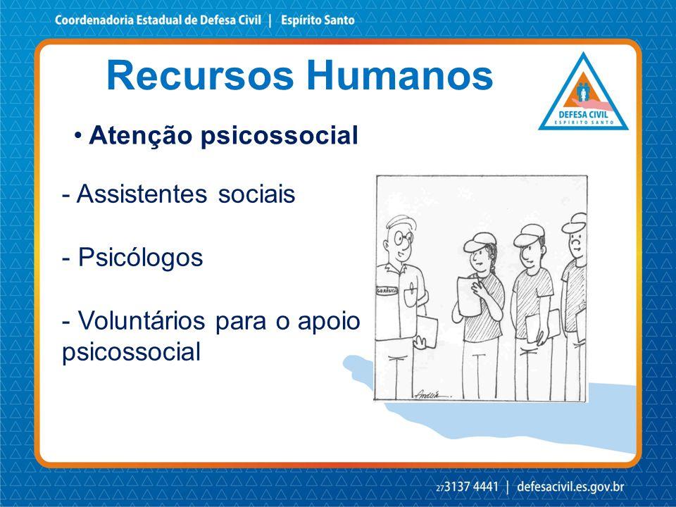 Recursos Humanos Atenção psicossocial - Assistentes sociais