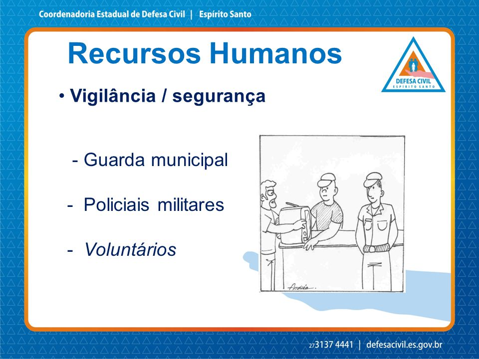 Recursos Humanos Vigilância / segurança - Guarda municipal