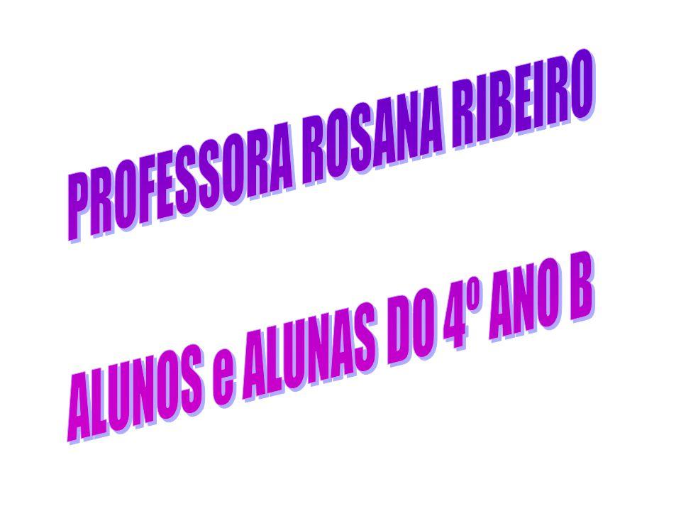 PROFESSORA ROSANA RIBEIRO ALUNOS e ALUNAS DO 4º ANO B
