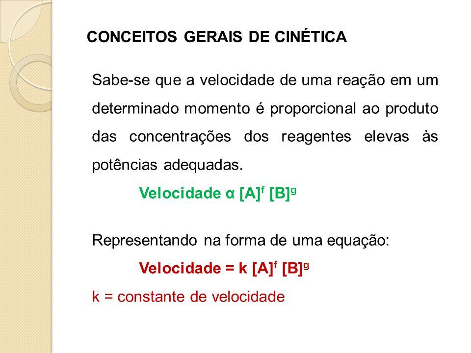 CONCEITOS GERAIS DE CINÉTICA