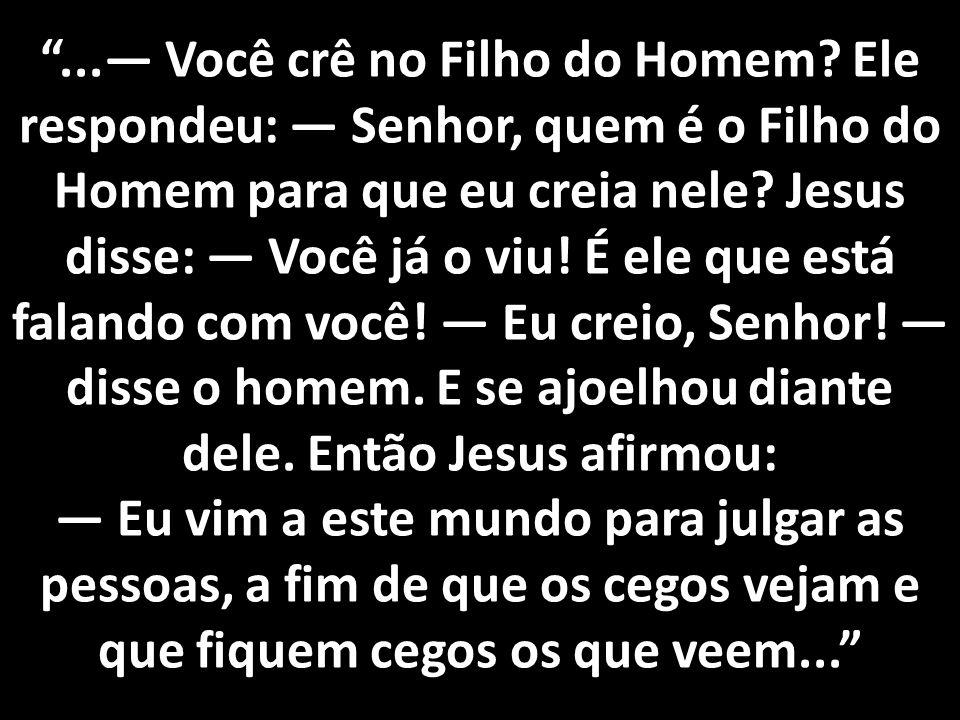 . — Você crê no Filho do Homem