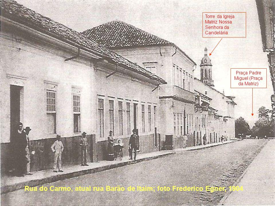 Rua do Carmo, atual rua Barão de Itaim; foto Frederico Egner, 1904