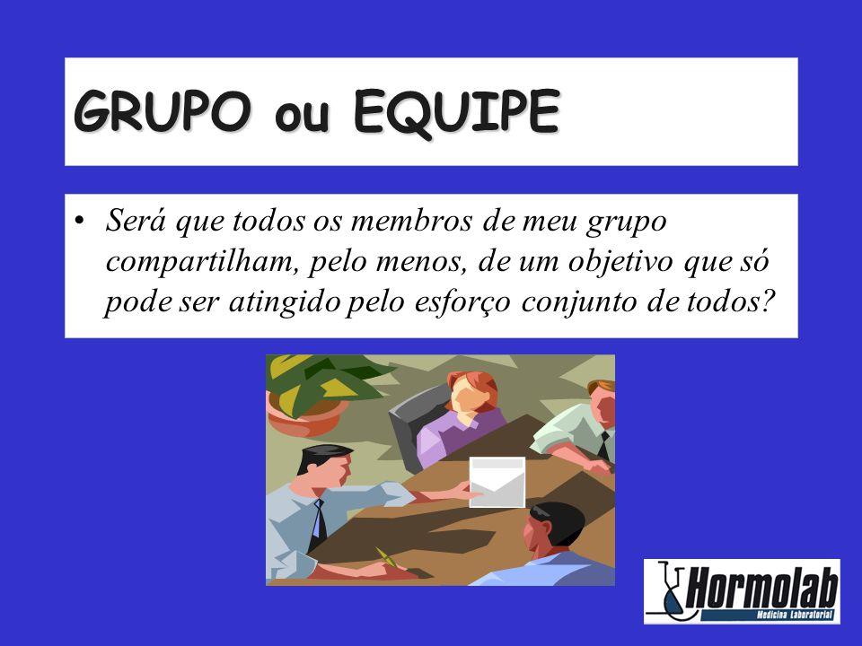 GRUPO ou EQUIPE